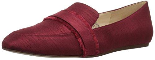 Nine West Women's Baruti Fabric Loafer Flat, Red Fabric, 12 Medium US (Loafer Nine West)