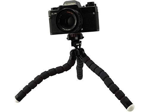 Tripode Mini Flessibile Octopus Telecamera Titolare Compatibile con Nikon Coolpix W100, A10, A100, AW130, S33, S9900, A300, A900, B500, B700 / Panasonic Lumix DMC-LX100, DMC-ZS35, DMC-SZ8, DMC-LZ40