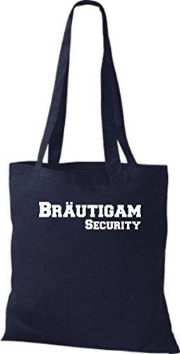 Shirtstown Stoffbeutel JGA Bräutigam Security viele Farben navy