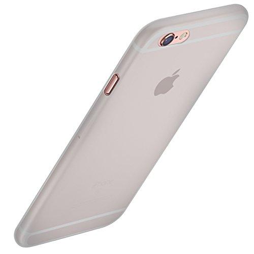 Orzly® - FlexiSlim Coque Souple pour Apple iPhone 6 & 6S - Super Fine Case (0,35 mm) - Semi Transparente NOIR BLANC FlexiSlim pour iPhone 6 PLUS & 6S PLUS