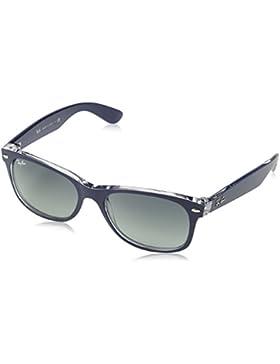 Ray-Ban Nuevas gafas de sol Wayfarer en azul mate superior en transparente RB2132 605371 55