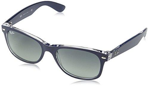 Ray Ban Unisex Sonnenbrille New Wayfarer, Gr. Large (Herstellergröße: 55), Blau (blau transparent 605371)