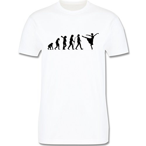 Evolution - Ballett Evolution - Herren Premium T-Shirt Weiß