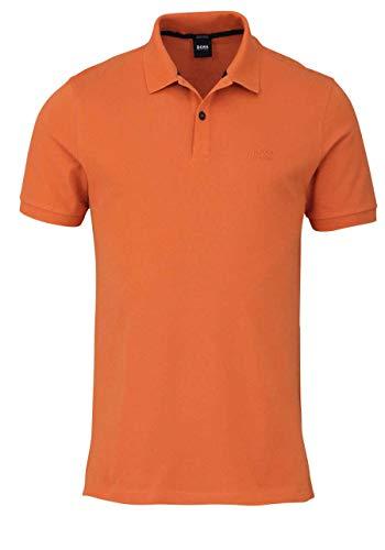 BOSS Halbarm Poloshirt Pallas Polokragen geknöpft orange Größe M