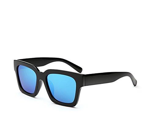 Sonnenbrille Persönlichkeit Gezeiten Menschen Runde Gesicht Polarisierte Sonnenbrille Langes Gesicht Männlich Retro Brille Big Box Quadratische Sonnenbrille Anti-UV-Frau ( Farbe : C )