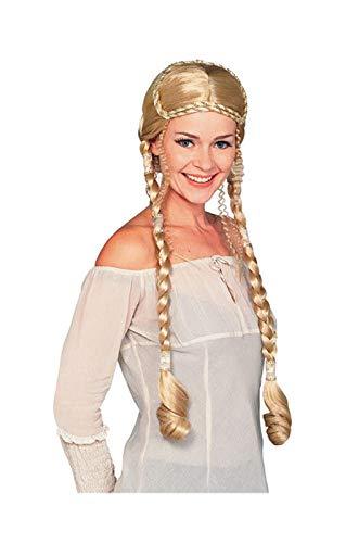 Horror-Shop Blonde Renaissance Perücke Deluxe (Blonde Renaissance Perücke Kostüm)
