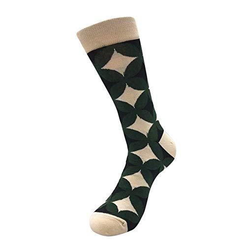 MODEOR 1 Pair Unisex Casual Cotton Socks Fashion Mens Women Womens Geometric Patterns Wicking Sock Crew Stockings Sleeping Boxer Shorts Ladies Comfortable Honeycomb Stockings Aetrex Mens Dress