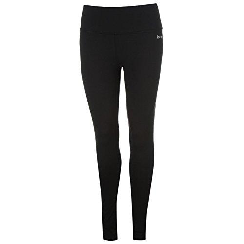 USA Pro Damen Leggings Sport Training Fitness Leggins Hose Breit Gummiband Schwarz 14 (L)
