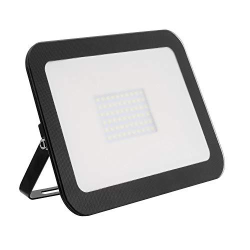 Foco Proyector LED Slim Cristal 50W Negro Blanco Frío 6000K-6500K