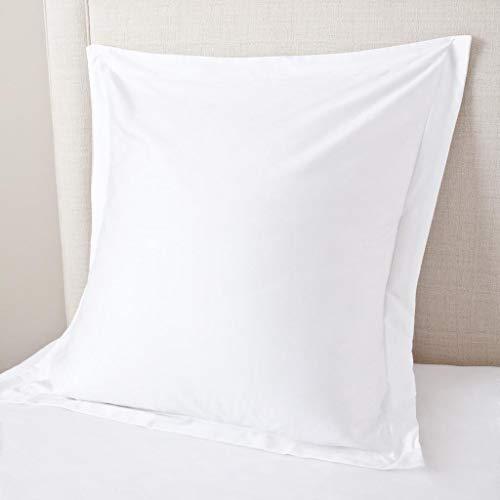 Precious Hotel Collection 450Fadenzahl Alle USA Größe 2Kissen Sham Weiß Massiv Weich einlagigen Ägyptische Baumwolle Square (24'' x 24'') White Solid -