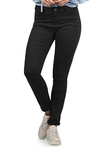DESIRES Lala Damen Jeans Denim Hose Röhrenjeans Stretch Skinny Fit, Größe:W30/30, Farbe:Black (9000)