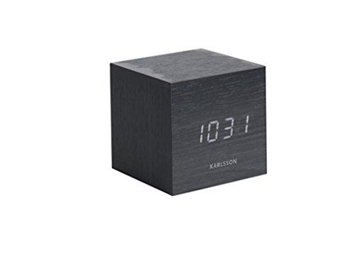 Karlsson Wecker Mini Cube Schwarz LED 8x8cm