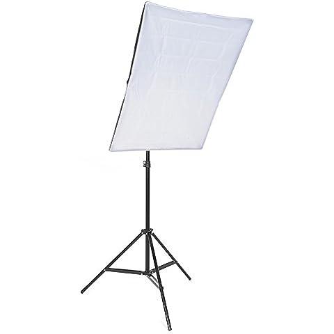 MVpower Kit de Iluminación para Estudio Fotográfico, Softbox, Iluminación Continua 1PCS Bombilla 45W