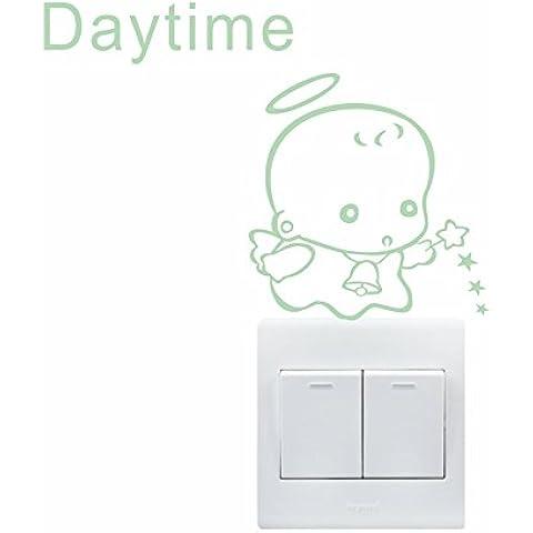 aooyaoo luce muro adesivi interruttore copertina vinile adesivo wallpaper design 5pcs