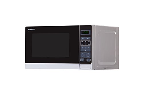 Sharp R-242 INW Microondas 20L, Control Táctil, 800W, 800 W, 20 litros, Metálico, Plata