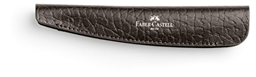 Faber Castell 189311 – Funda de piel para bolígrafo con tapa e-motion (piel en relieve), color marrón