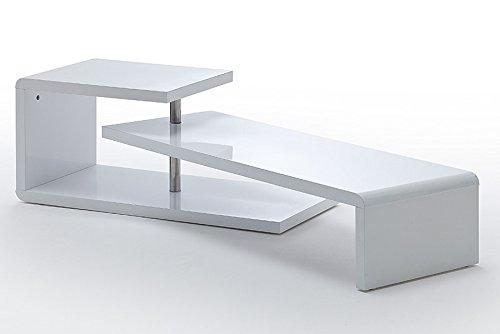 Agionda TV Lowboard Samira Weiss Hochglanz Lack Schwenkbar Drehbar TV Möbel Tisch Board Sideboard - 3