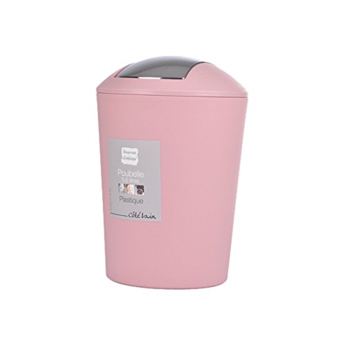 Douceur d'Intérieur Flic Flac Abfalleimer, 5.6 L Powder Pink