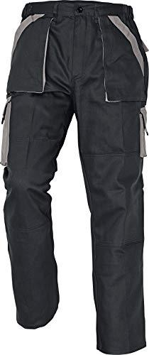 Stenso Max - Pantaloni da Lavoro in Cotone da Uomo Nero/Grigio 54