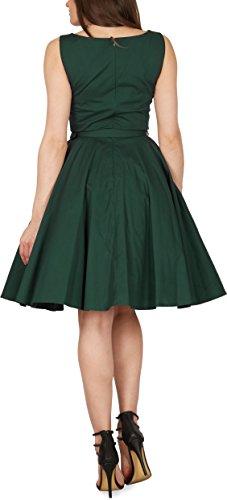 Black Butterfly 'Audrey' Vintage Clarity Kleid im 50er-Jahre-Stil (Dunkelgrün, EUR 38 – S) - 6