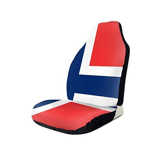 Huabuqi Red Accuracy Simple Flag of Norway Autositzbezug 1 STÜCK 18x53 Zoll - Black Duck Auto Sitzbezüge