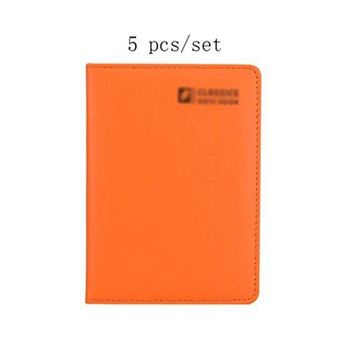 Liu Yu·Büroflächen, Bürobedarf liefert orange A6 Notebook High-Grade Verdickung Notebook 5 Stück / Set -