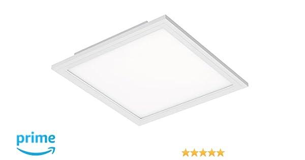 Briloner Leuchten   LED Deckenleuchte Panel, LED Lampe, Wohnzimmer Lampe,  Deckenlampe, Deckenstrahler, 12W, Quadratisch, Weiß, ...