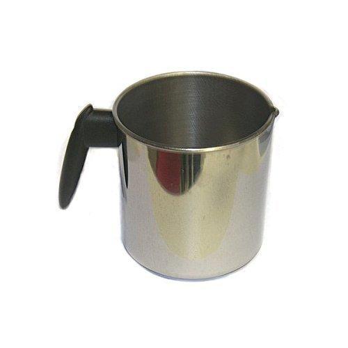 Bricco bombato bollitore per latte scalda latte 1lt 12cm in acciaio con manico