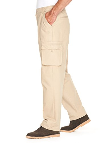 Mens Cotton Cargo Combat Side Elasticated Work Trousers