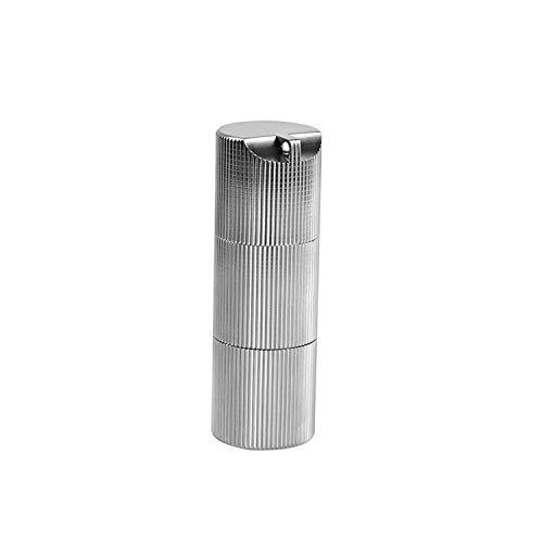 OneTigris Wasserdichte Doppelkammer Titan Pillen Box Pillendose mit Mini Schlüsselring (Silber) |MEHRWEG Verpackung