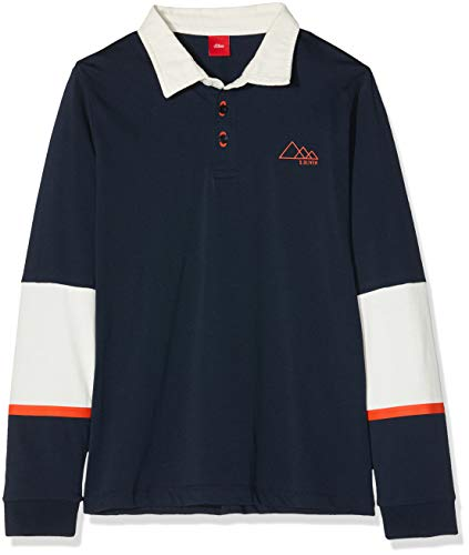 s.Oliver RED Label Jungen Longsleeve im Polo-Stil Dark Blue L.REG -