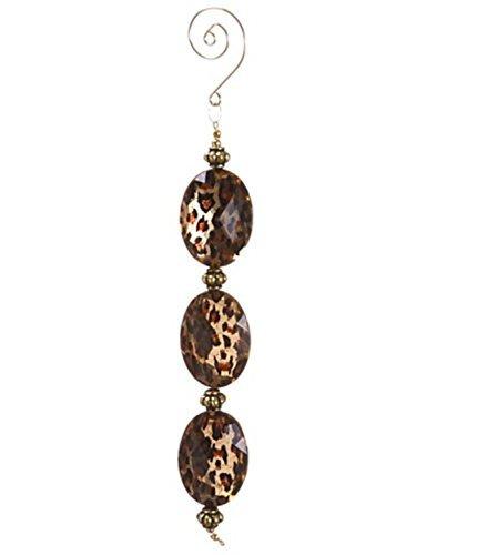 Allstate Diva Safari Gold Cheetah Print Faux Crystal Christmas Dangle Ornament, 8.5 by Allstate (Diva Cheetah)