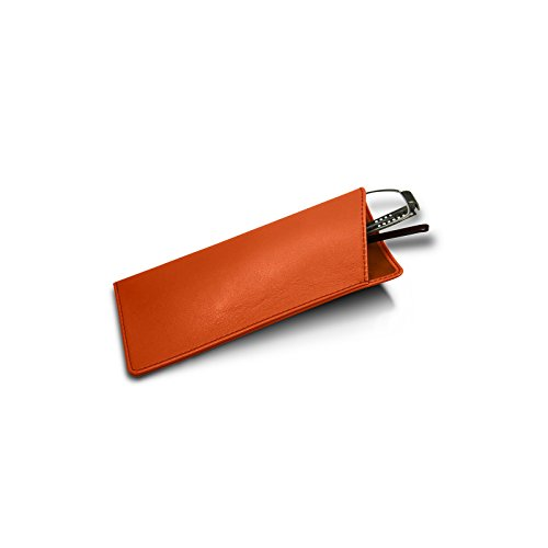Lucrin - Etuis für dünne Brillen - Orange - Glattleder