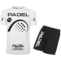 Kit Maglia Calzoncini Fluo Padel t-Shirt Paddle World Smash Tennis Gara