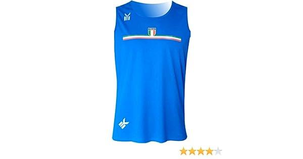Colore Bianco. EKEKO Canotta Running e Sport da Spiaggia Italia