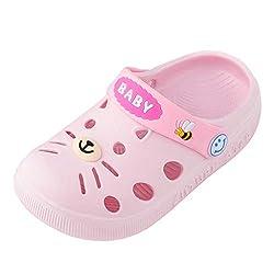 AIni Baby Schuhe Mode Beiläufiges 2019 Neuer Kleinkind Kleinkind Baby Kinder Mädchen Jungen Hausschuhe Karikatur Katze Boden Schuhe Sandalen Krabbelschuhe Kleinkinder Schuhe Lauflernschuhe(130,Rosa)