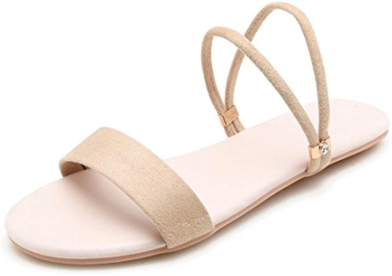 AIKAKA AIKAKA AIKAKA Chaussures pour Femmes Printemps Été  s Plates en Daim étudiant PantouflesB07DXXF44LParent ae7d0d