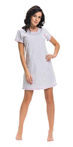 dn-nightwear Damen Nachthemd TM.9209 Grau