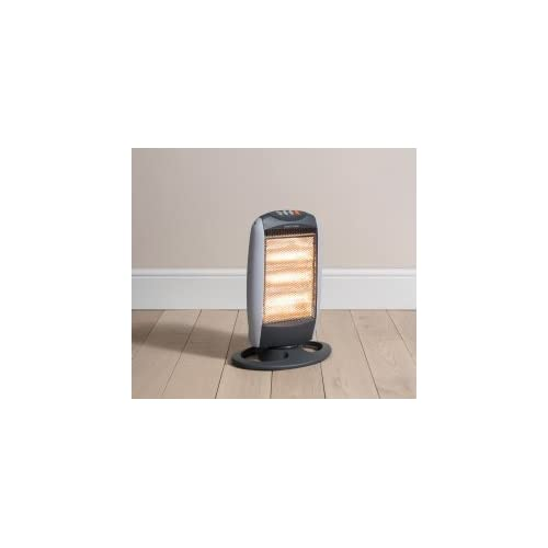 Daewoo 1200w Oscillating Halogen Heater, Black