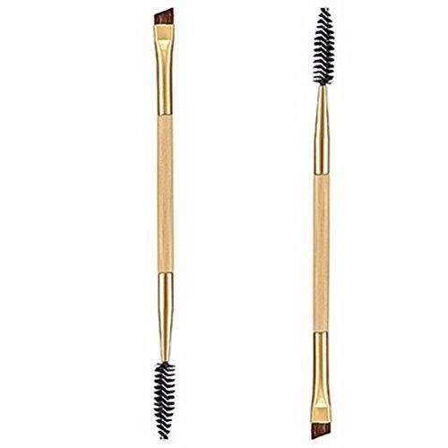OVERMAL 1PCS Maquillage bambou poignée Double Sourcils Brosse + peigne sourcils