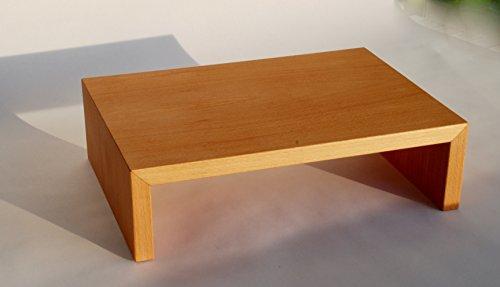 Monitorständer, Buche, Echtholzfurnier B / H / T 35 x 10 x 25 cm aus deutscher handwerklicher Fertigung