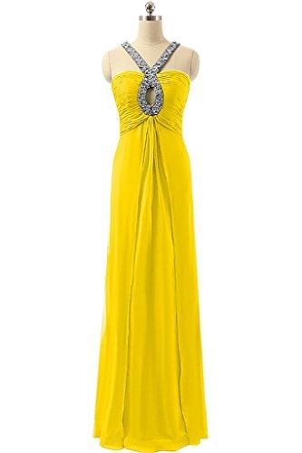 Sunvary supporto, elegante Chiffon Prom Sexy vestiti da festa Yellow
