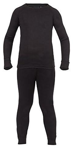 Ultrasport Kinder Thermounterwäsche Set mit Quick-dry Funktion, schwarz, 128, 10261