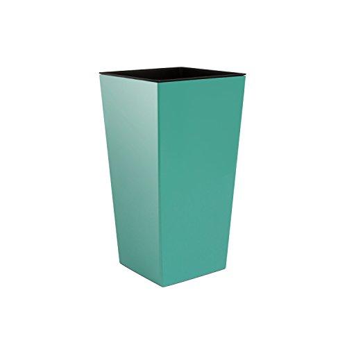 Pot de fleurs 16 L Urbi Square Pot de fleur en plastique, hauteur 420 mm bleu