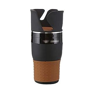YOYGADING Getränkehalter Auto Universal Multifunktion 360° Verstellbar Klappbar Multihalter aus Kunststoff für Kaffeebecher, Getränkedosen, Schwarz, 18.8 * 9cm