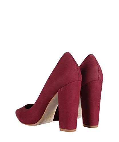 Steve Madden Primpy Burgundy Shoes - Scarpe Con Tacco Bordeaux Bordeaux