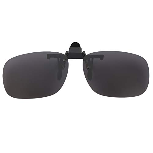 Preisvergleich Produktbild RoadRoman Clip auf Brille Harzlinse ultradünne polarisierte Linse UV 400 Stereo hängen Clip Brille Outdoor Brillen Sonnenbrillen