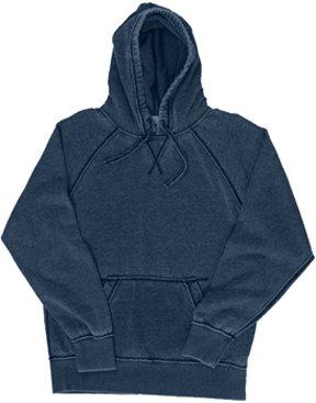 Adult Vintage Zen Fleece Pullover Hood VINTAGE NAVY - Fleece-stoff Ocean