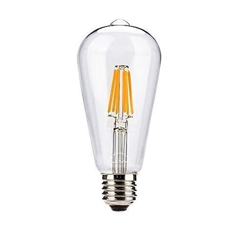 Vintage Lampe 1 Packung Leadleds klar Glas warmweiß Innenbeleuchtung 6W