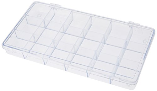 Rayher Hobby 3901937 - Caja de almacenamiento con 18 compartimentos, transparente